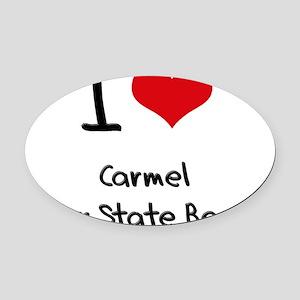 I Love CARMEL RIVER STATE BEACH Oval Car Magnet
