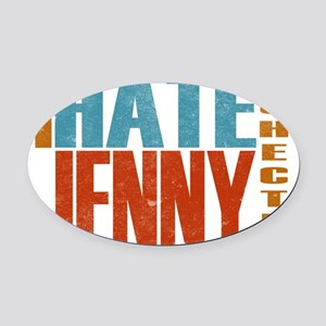 Hate Jenny L Word Oval Car Magnet