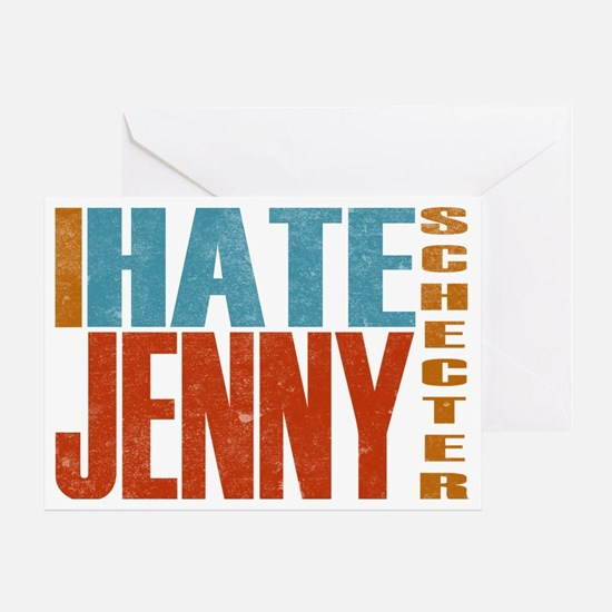 Hate Jenny L Word Greeting Card