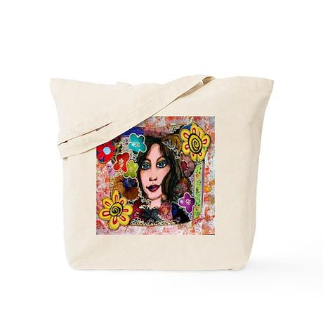 whimsical mixed-media Tote Bag
