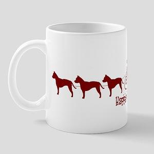 """Staffie """"Sleigh"""" Mug"""