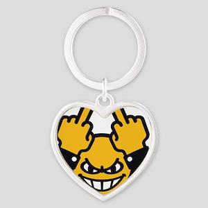 Evil Smiley (3C) Heart Keychain
