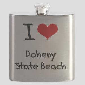 I Love DOHENY STATE BEACH Flask