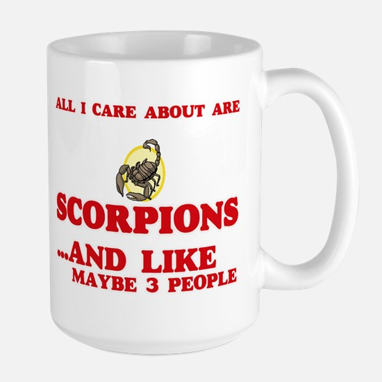 All I care about are Scorpions Mugs