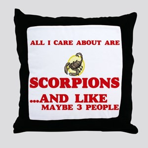 All I care about are Scorpions Throw Pillow