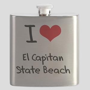 I Love EL CAPITAN STATE BEACH Flask