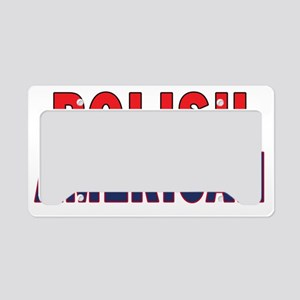 Polish American Text License Plate Holder