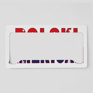Polski American License Plate Holder