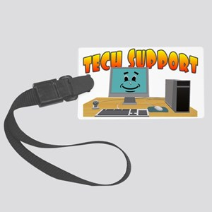 Happy Tech Support Large Luggage Tag