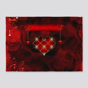 Wonderful elegant decoative heart with flowers on