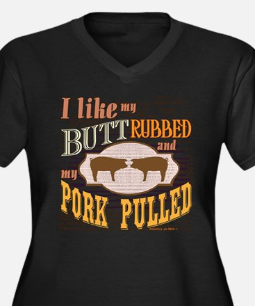 Bacon Butt Rubbed Plus Size T-Shirt