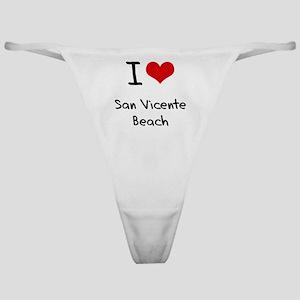 I Love SAN VICENTE BEACH Classic Thong