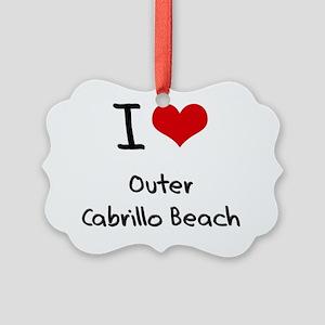 I Love OUTER CABRILLO BEACH Picture Ornament