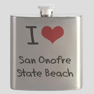 I Love SAN ONOFRE STATE BEACH Flask