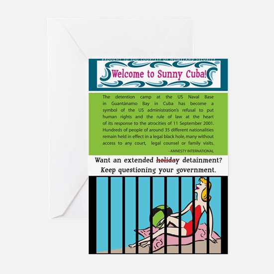 Political Gitmo Greeting Cards (10 pk)