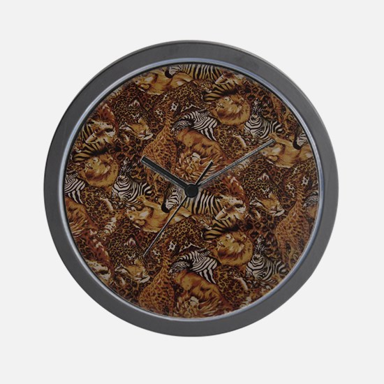 ANIMAL SAFARI JUNGLE PATTERN Wall Clock