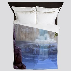 Waterfalls Queen Duvet