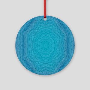 Sint Maarten ocean Swirls Flip Flop Round Ornament