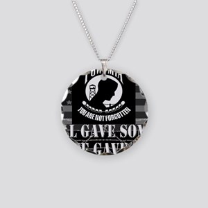 Pow-Mia All Gave Some Some G Necklace Circle Charm
