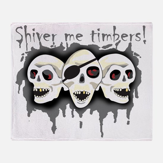 Pirate Shiver Me Timbers Throw Blanket