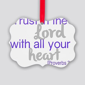 Trust in the Lord Picture Ornament