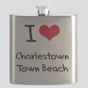 I Love CHARLESTOWN TOWN BEACH Flask