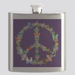 Butterfly Peace Sign Blanket 1 Flask