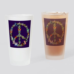 Butterfly Peace Sign Blanket 1 Drinking Glass