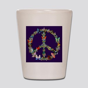 Butterfly Peace Sign Blanket 1 Shot Glass