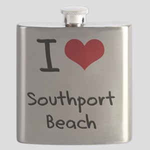 I Love SOUTHPORT BEACH Flask