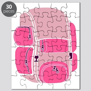 Happy Camper Backpack Pink Puzzle