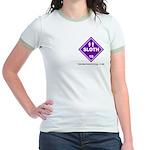 Women's Hazardous Sloth Ringer T-Shirt