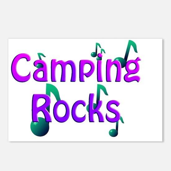 Camping Rocks Purple Postcards (Package of 8)