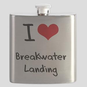 I Love BREAKWATER LANDING Flask