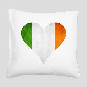 Ireland heart Square Canvas Pillow