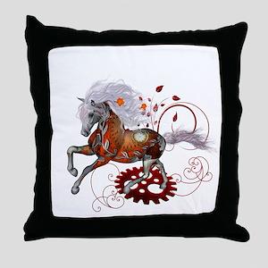 Steampunk, wonderful wild steampunk horse Throw Pi
