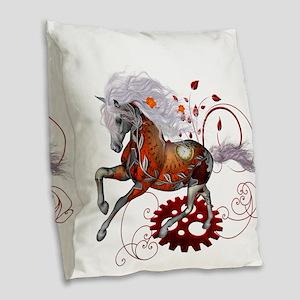 Steampunk, wonderful wild steampunk horse Burlap T