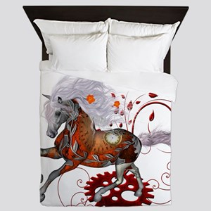 Steampunk, wonderful wild steampunk horse Queen Du
