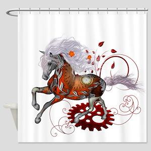 Steampunk, wonderful wild steampunk horse Shower C