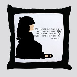 tomboy Throw Pillow