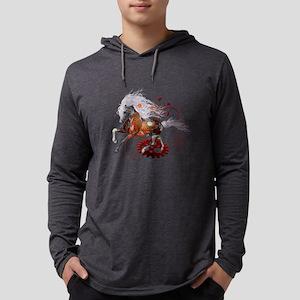 Steampunk, wonderful wild steampunk horse Long Sle