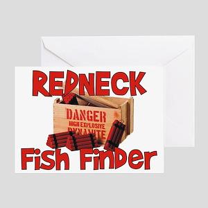 Redneck Fish Finder Greeting Card