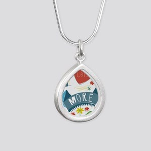 I love you more Silver Teardrop Necklace