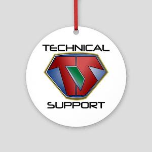 Super Tech Support - lt Round Ornament
