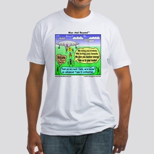Ants Meet Aliens Fitted T-Shirt