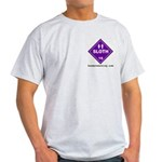 Hazardous Sloth Ash Grey T-Shirt