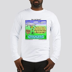 Ants Meet Aliens Long Sleeve T-Shirt