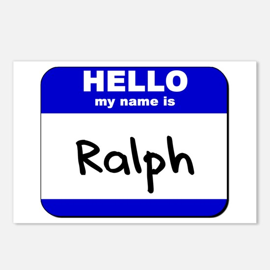 hello my name is ralph  Postcards (Package of 8)