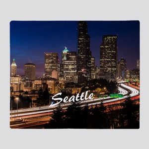 Seattle_10X8_puzzle_DowntownSeattle Throw Blanket
