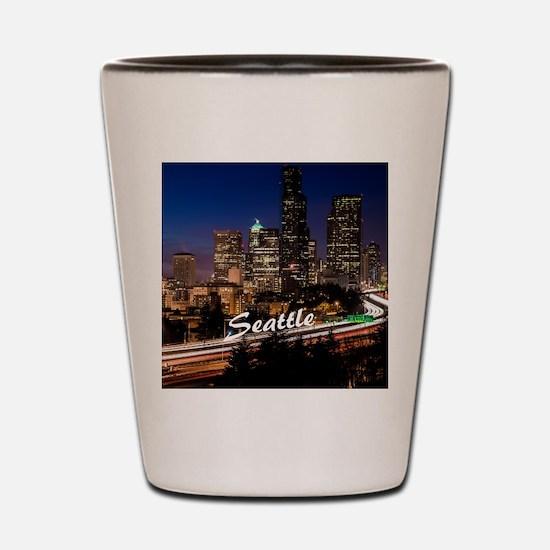 Seattle_10X8_puzzle_DowntownSeattle Shot Glass